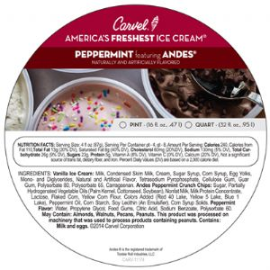 Peppermint Featuring Andes Pint/Quart