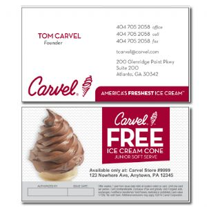 Free Cone Business Card 250ea